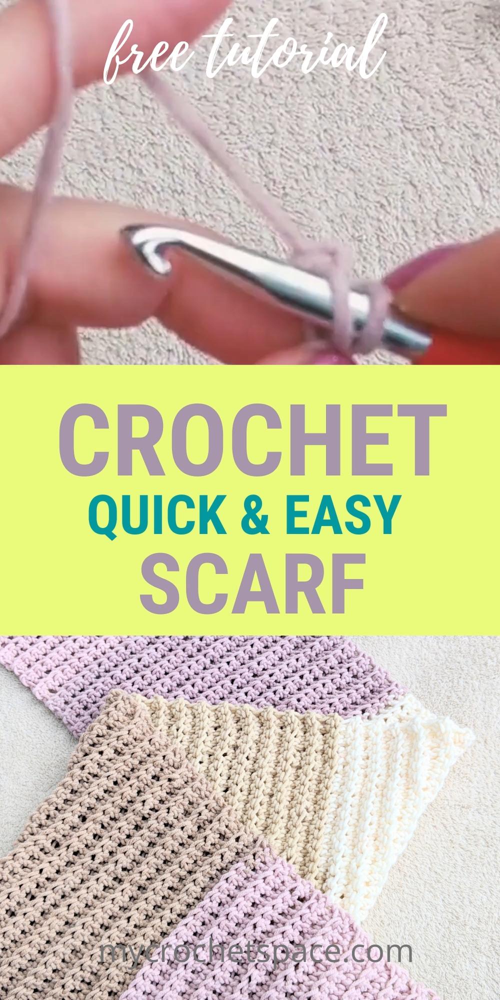 CROCHET RIBBED SCARF - beginner friendly free pattern