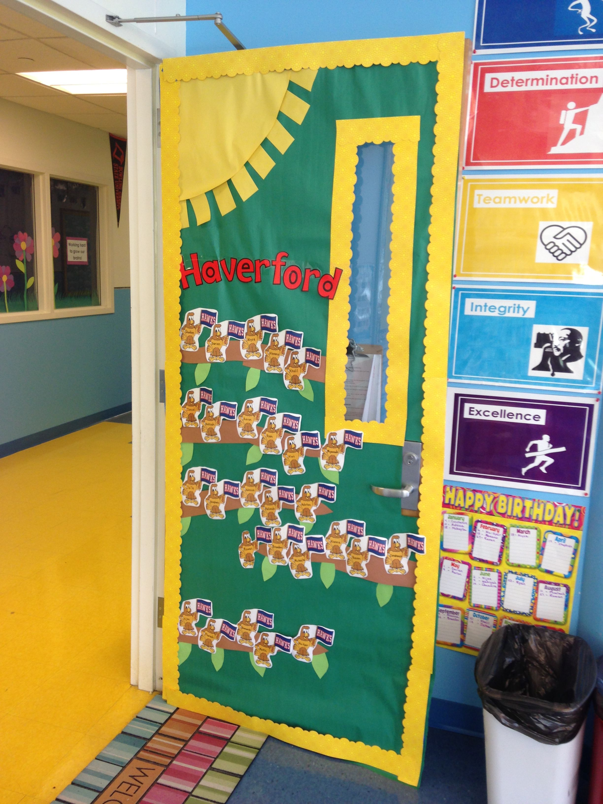 decorated kindergarten classroom door