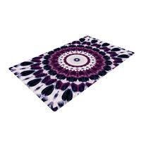 "Iris Lehnhardt ""Batik Pattern"" Purple Geometric Woven Area Rug"