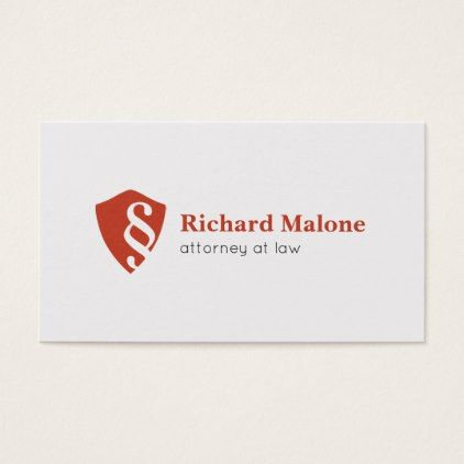 Attorney at law lawyer shield logo business card reheart Choice Image