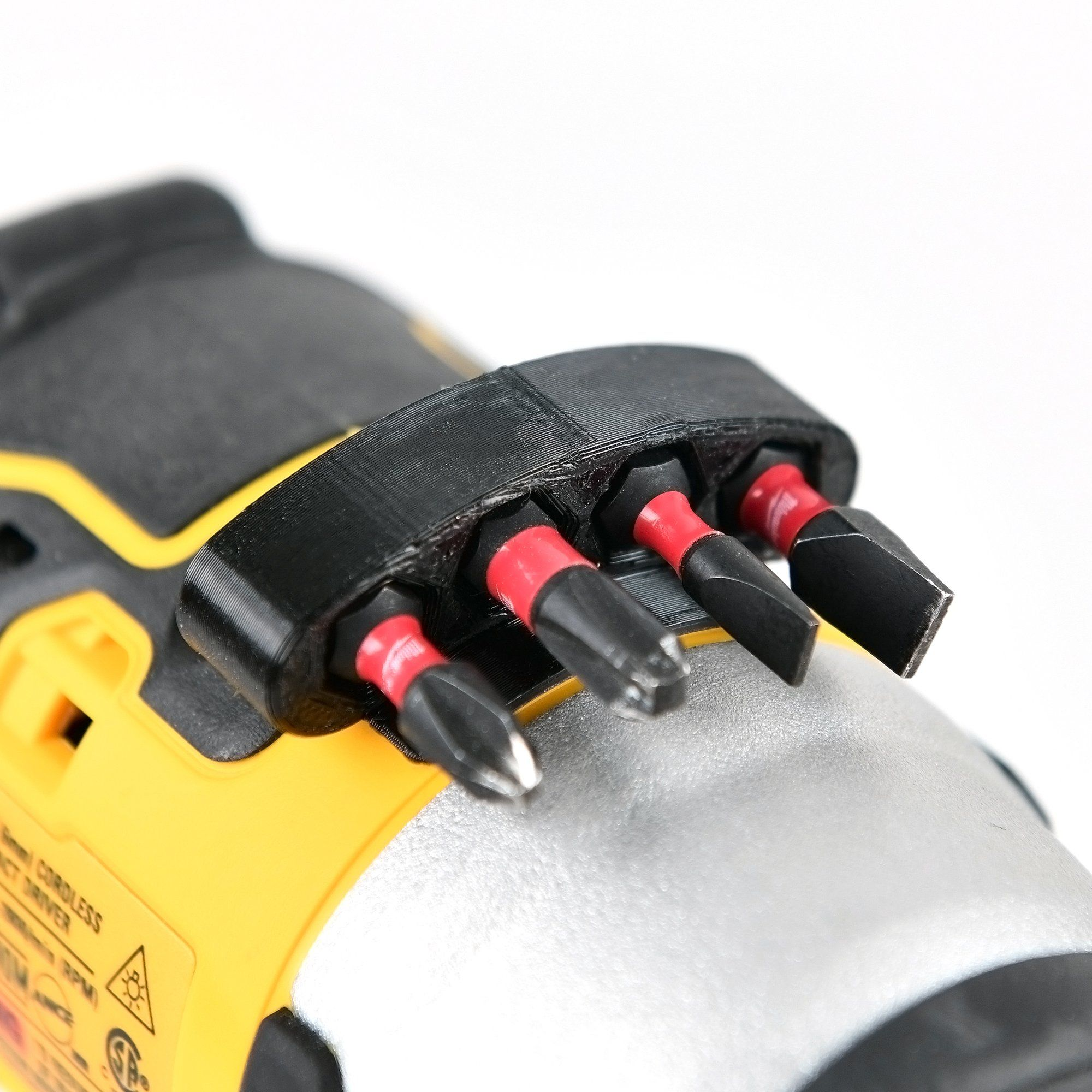 Photo of Drill Bits Mount Holder For DeWalt Milwaukee Makita Cordless Power Drill/Driver – Dewalt Yellow