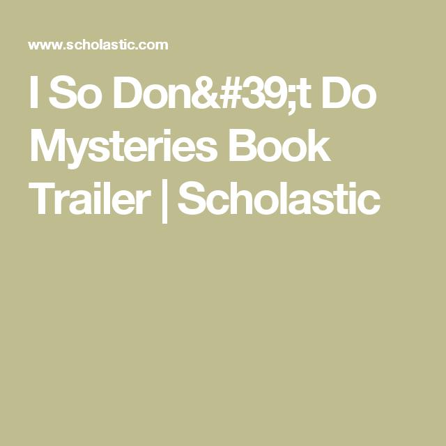 I So Don't Do Mysteries Book Trailer | Scholastic