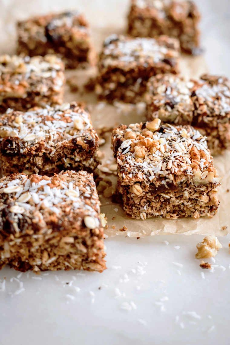 Healthy Vegan Oat Bar Recipe Gluten Free Recipe In 2020 Oat Bar Recipes Vegan Oat Bar Recipe Oat Bars