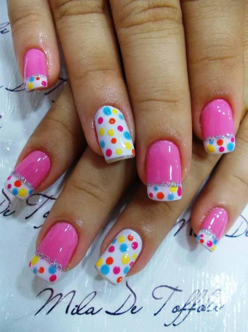 70 Easy And Adorable Polka Dots Nail Designs Polka Dot Nail Designs Dot Nail Designs Polka Dot Nails