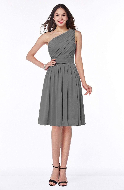 Green dress one shoulder  knee length grey bridesmaid dresses  Google Search  Mattieus