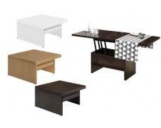 Mesa de centro convertible en mesa comedor. | mesa de centro | Pinterest