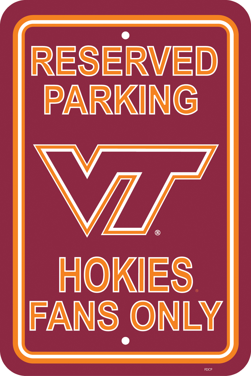 NCAA Virginia Cavaliers 12-by-18 inch Plastic Parking Sign