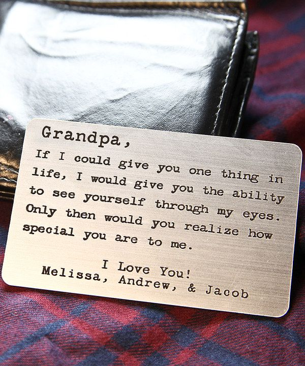 Look At This Dear Grandpa Personalized Message Plaque On Zulily Today