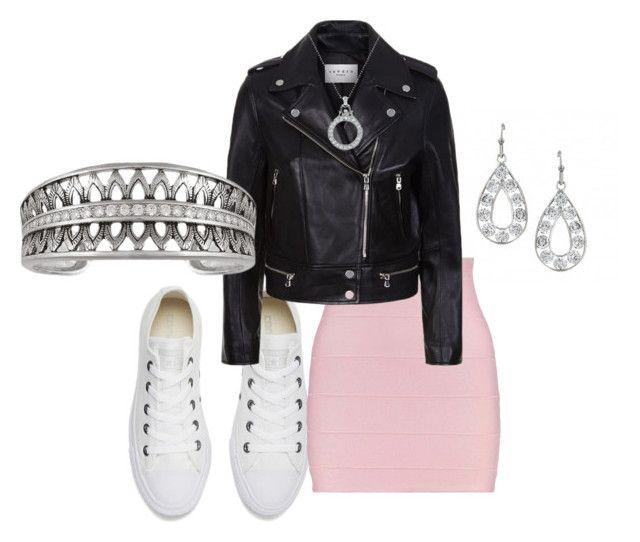 """""""Untitled"""" by montanasilversmiths ❤ liked on Polyvore featuring Converse and Sandro"""