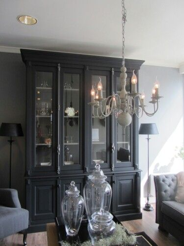 Larder Cupboard, Dresser Makeovers, Grey Interiors, White Houses, Bookcase,  Le Cottage, Creation Deco, House Design, Cupboards