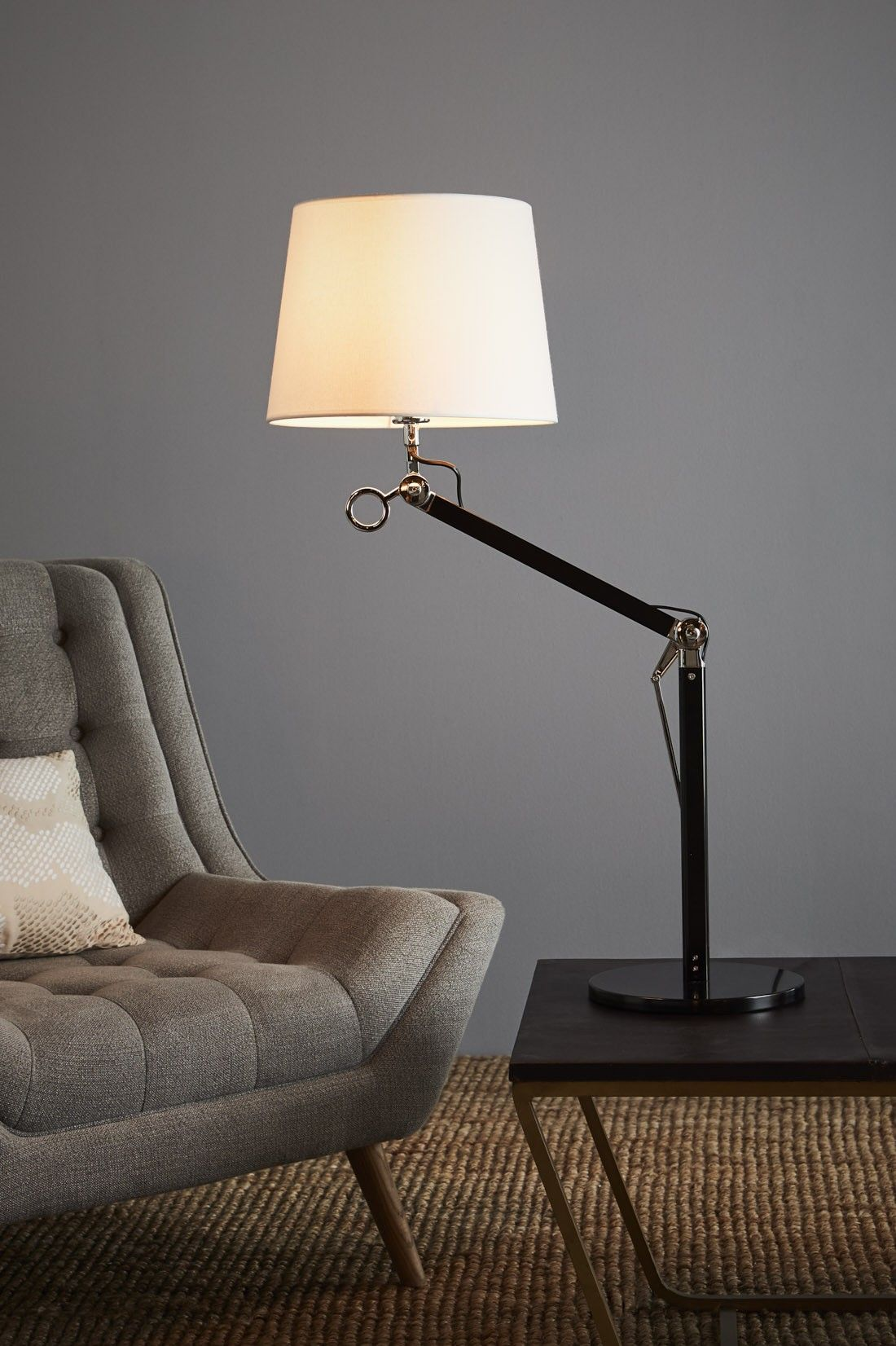 Lumino Small Table Lamp Black/White 349 D24 x