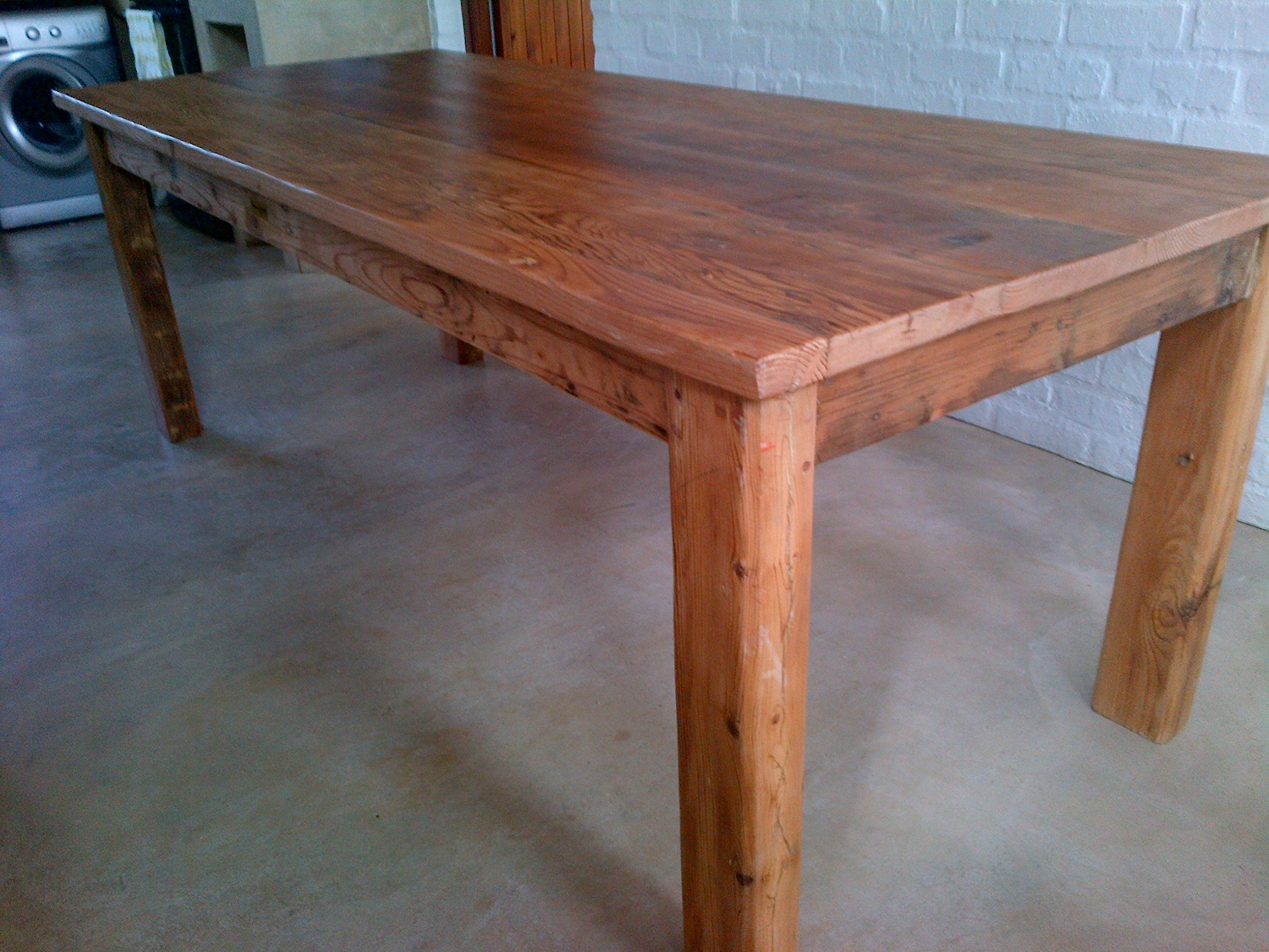 Rustic Table Seats 12 Recycled and reclaimed wood with natural