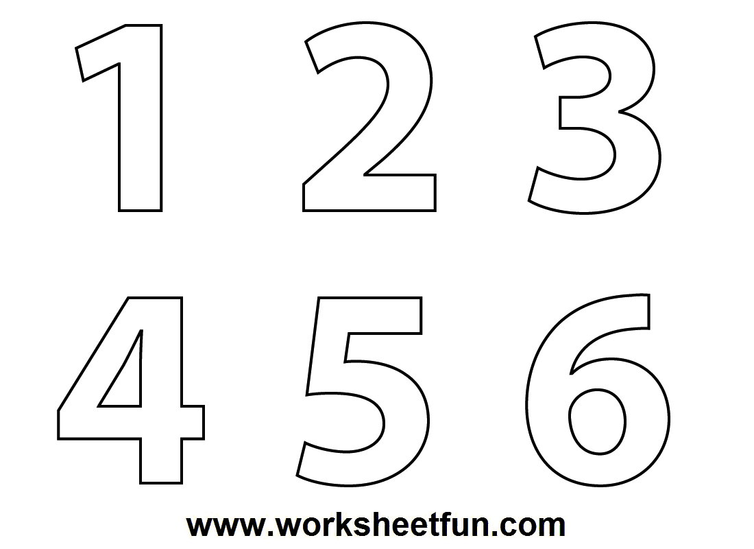 Number and Shapes Coloring Pages – Free Printable Number Worksheets