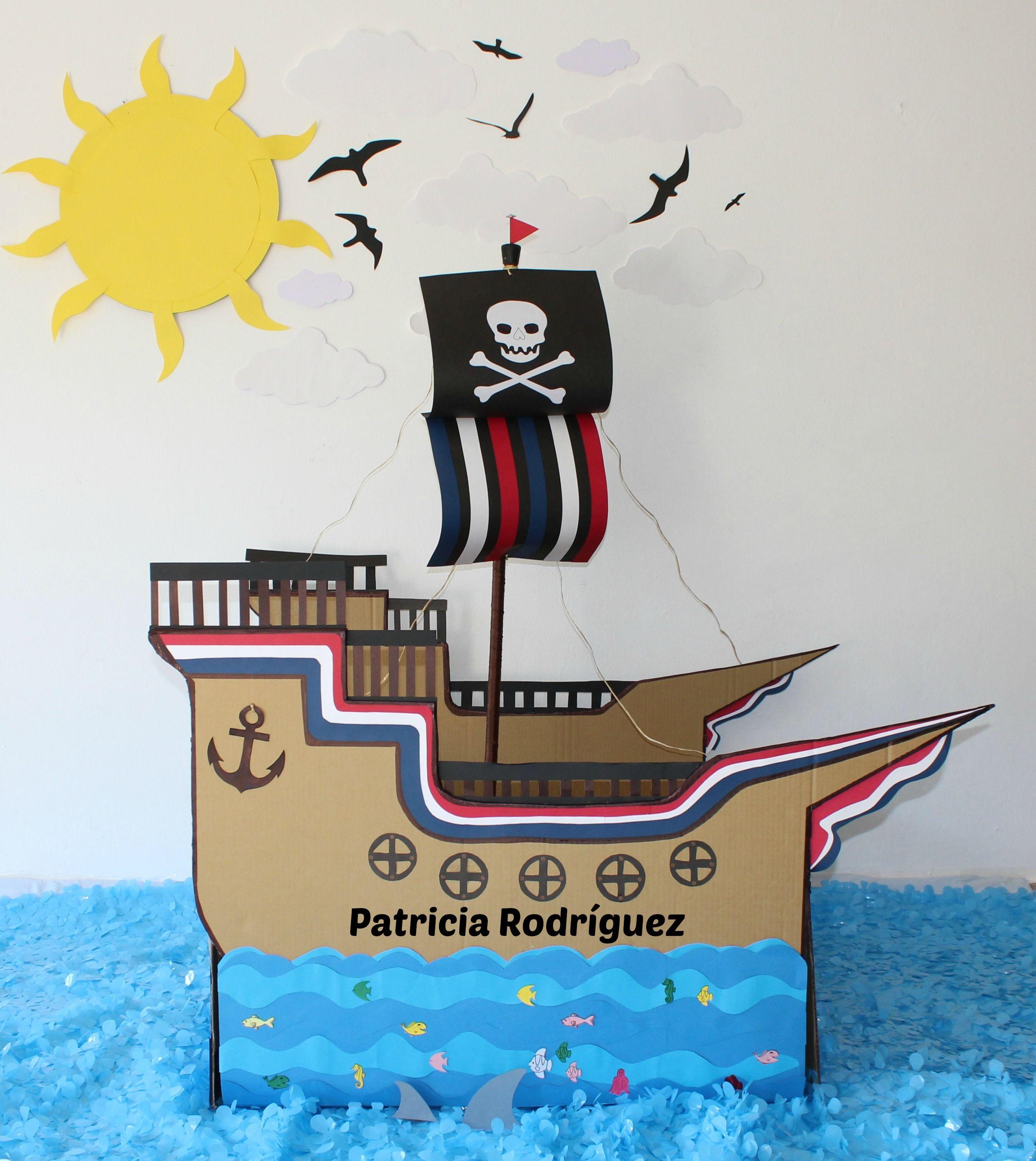 Barco de Pirata en cartón   Manualidades en Cartón   Pinterest ...