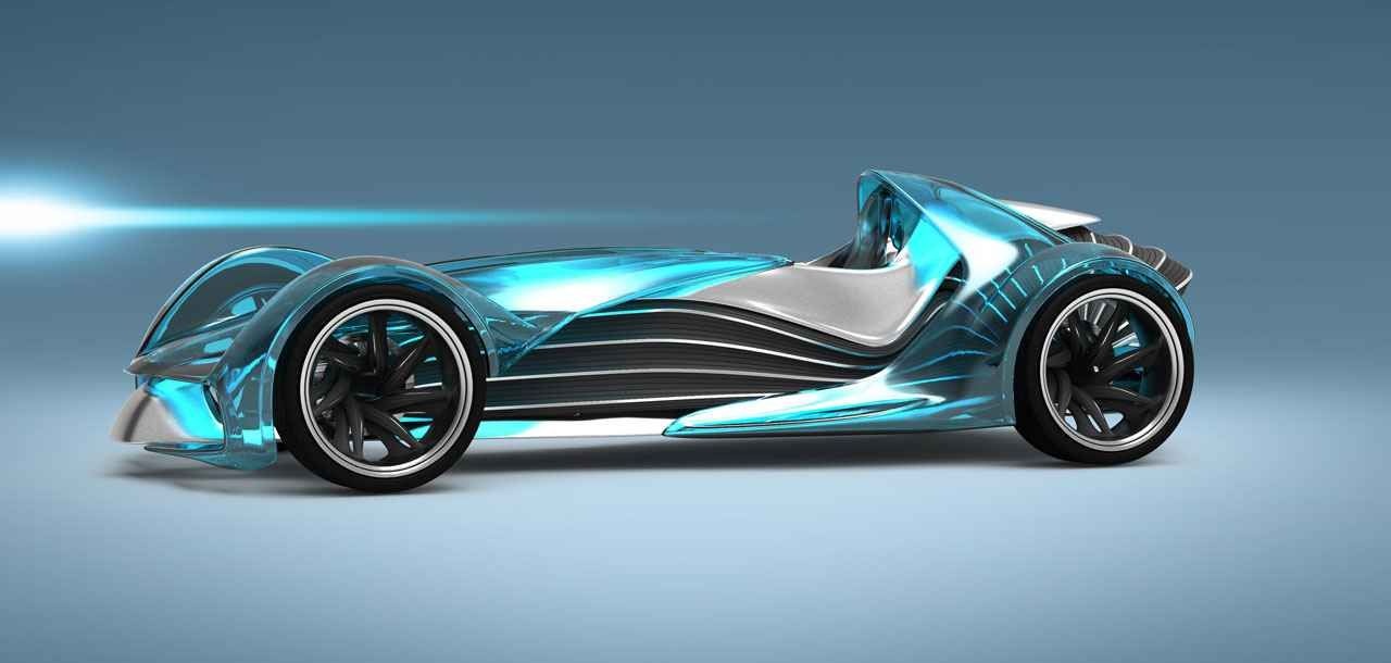 concept cars of the future future concept at futuristic racing car for the year 2030 - Sports Cars 2030
