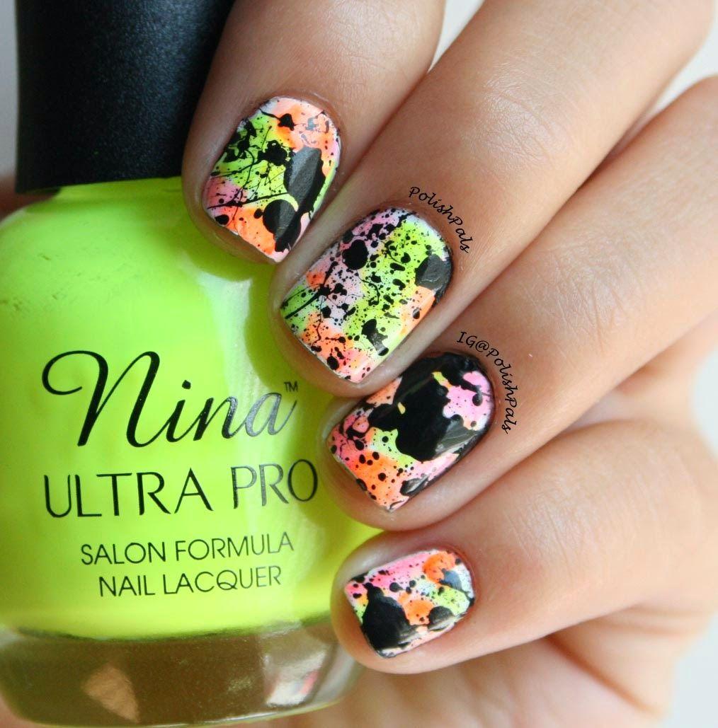 Asombroso Uñas De Color Rosa Fluro Festooning - Ideas Para Pintar ...