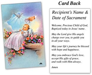 Catholic Baptism Prayer Card Baptism Holy Cards 10