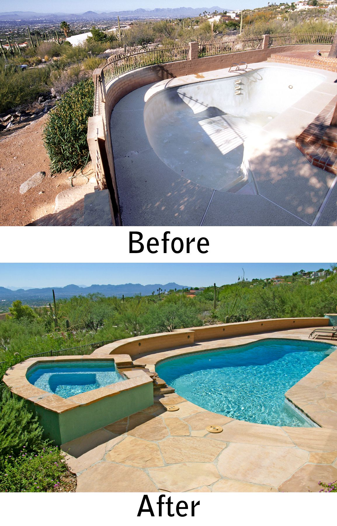 Delightful Tucson Pool Renovation And Spa Addition By Patio Pools And Spas.