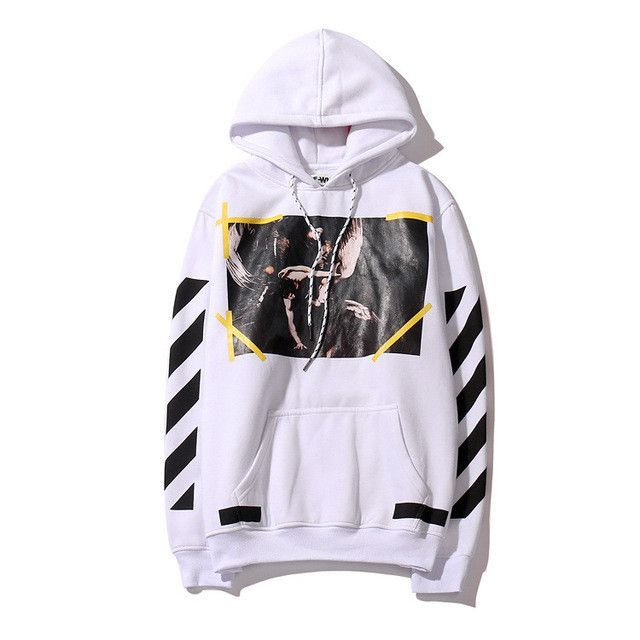 2017 New Original Brand Men Women Hoodie With the Off white Tags Religious  Angel Jesus Fleece