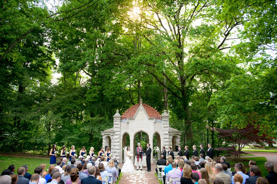Rosewell House Wedding Ceremony On Indiana University Campus In Bloomington IN By Tall Small