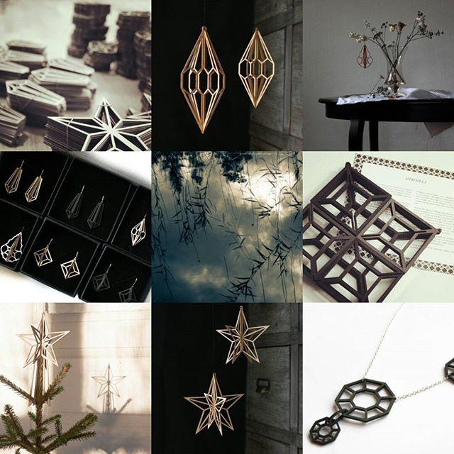 Some photos of #valonadesign year 2015 taken by #elinamäntylä #valona #birchcrystals #koivukristalli #björk #koivu #nordicdesign #himmeli #geometric