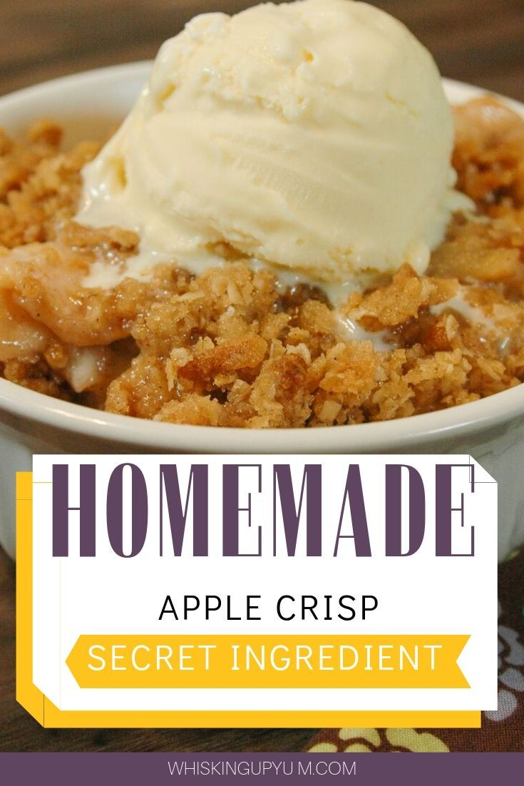 Quick and easy apple crisp recipe | Easy apple crisp recipe with oats. Favorite fall desserts | Fall bakes | Best apple crisp recipe | Old fashioned apple crisp recipe #applecrisp