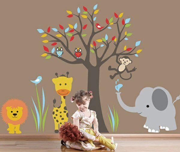 Babyzimmer Wandgestaltung - 15 Wanddeko Ideen mit Tieren - wandgestaltung babyzimmer