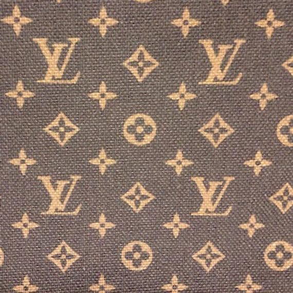 9b785517253 Free Shipping in US LV Louis Vuitton Inspired Cotton Linen Upholstery Pink  or Brown Red Black Classi