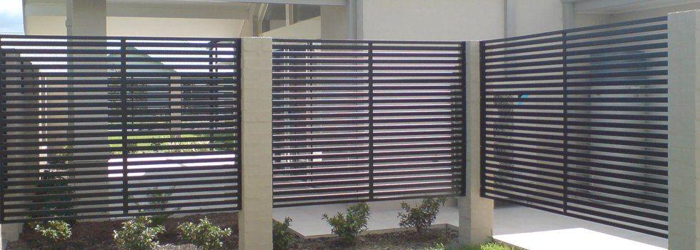 screens fences metal aluminum steel slat fencing private