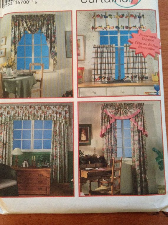 Simplicity 9462 Curtains Window Treatments Sewing Pattern Home Decor ...