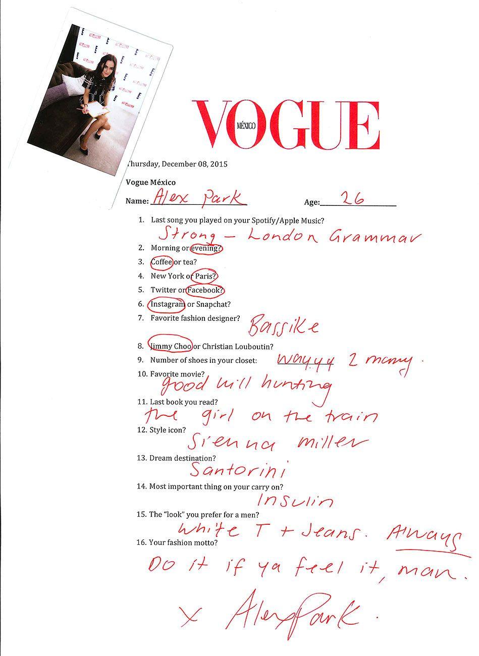 Alexandra Park en #VogueConfidential
