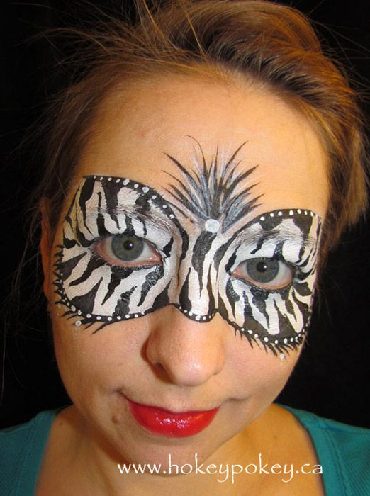 Zebra Mask Face Painting Design Jpg 522 700