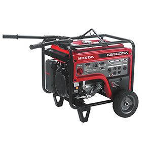 Honda Generator Eb5000 Provides Rugged Reliable Power That S Perfect For Construction And Rental Indu Honda Generator Portable Generator Generators For Sale