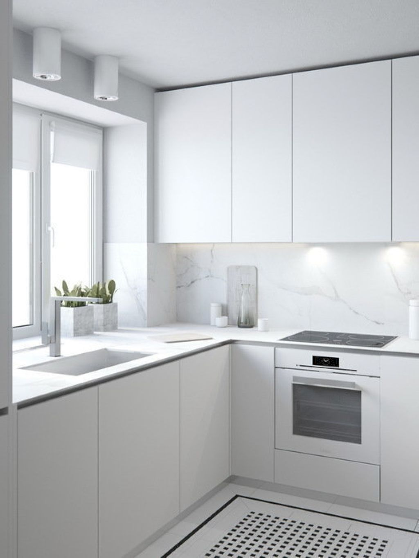 29 Simple And Minimalist Small White Kitchen Ideas Modern