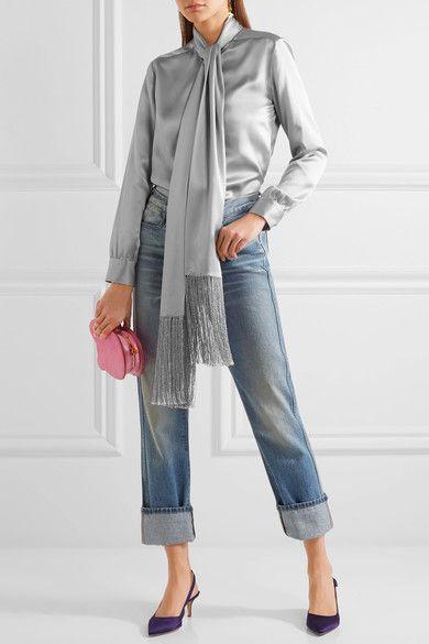 Hillier Bartley | Silk-satin blouse | NET-A-PORTER.COM