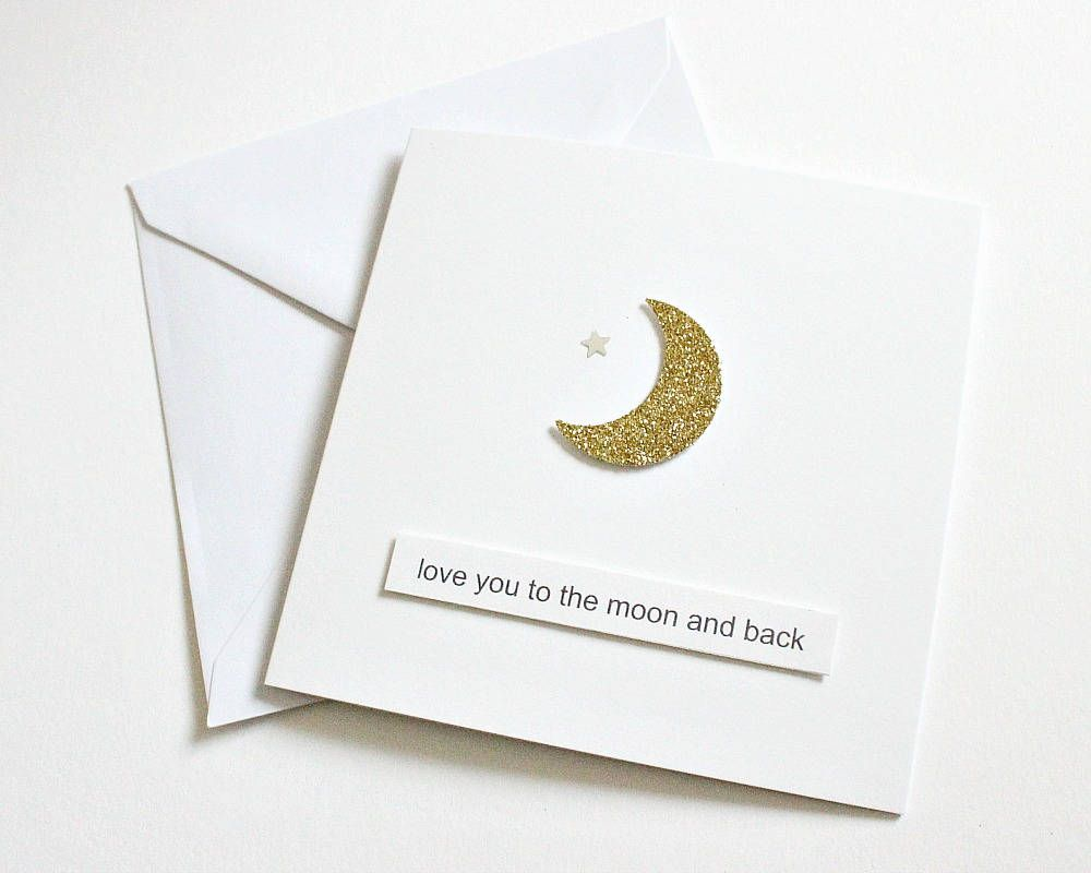 Love You To The Moon And Back Card Boyfriend Girlfriend Birthday