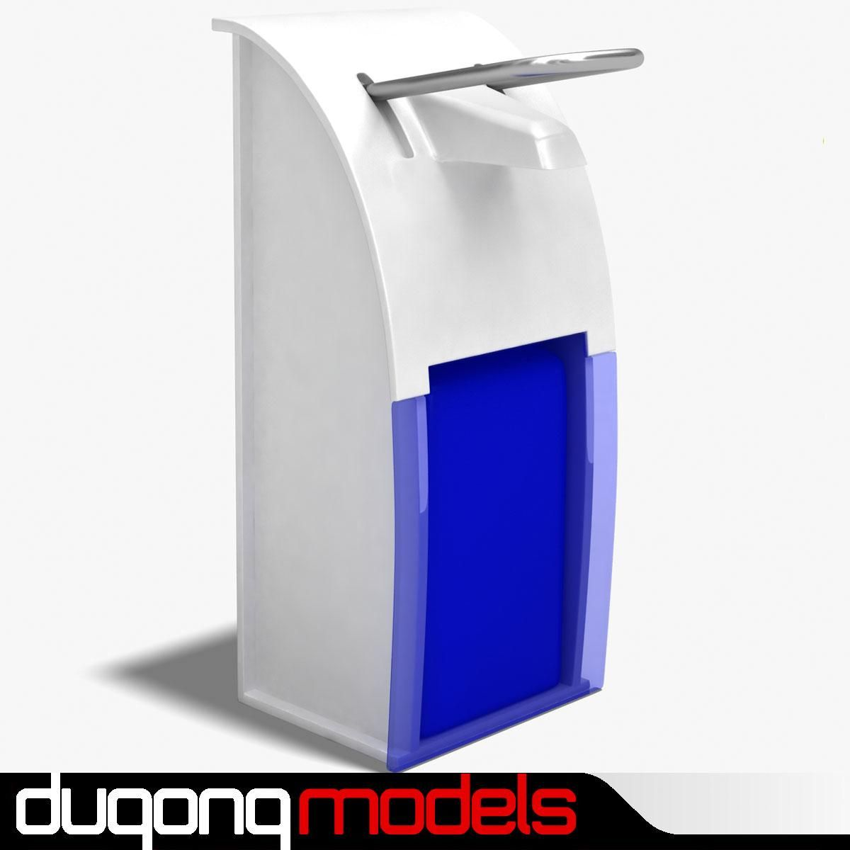 Hand Sanitizer Dispenser 3d Model Ad Sanitizer Hand Model