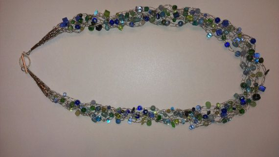 Crochet Beaded Necklace With Wire Wire Center