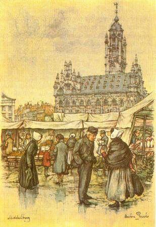 Ap Markt Middelburg Anton Pieck 2 In 2018 Pinterest Painting