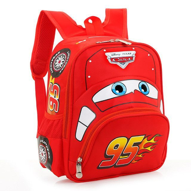 Hot Sell Disney Cars McQueen plush cartoon school bag children backpack bag