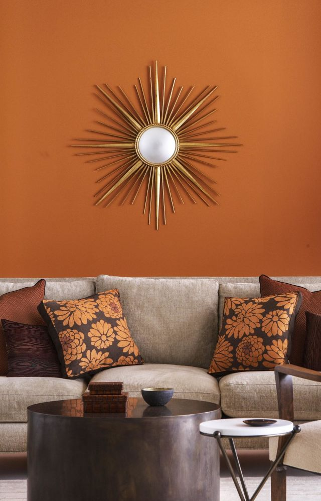 12 Colors Interior Designers Say You Can T Go Wrong With Living Room Orange Burnt Orange Living Room Decor Burnt Orange Living Room