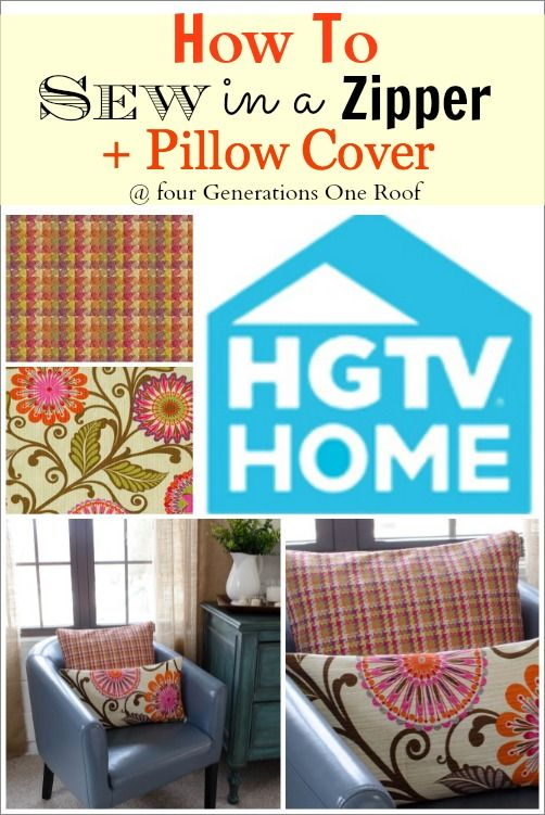 DIY DECOR:: Minimal Cost HUGE Decor Impact in Any Room !!! New Pillows !! How to sew a zipper in a pillow cover - (The EASY WAY) By @Four Generations One Roof/Four Generations One Roof (Excellent Tutorial)