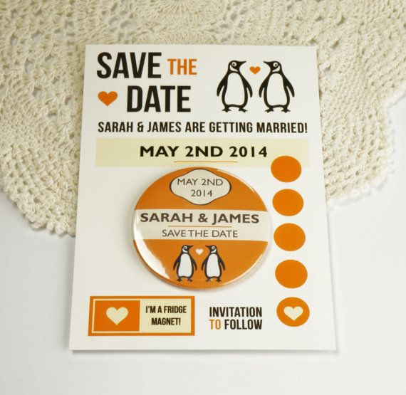 Wedding Save The Date Magnets Penguin Classics Design Complete