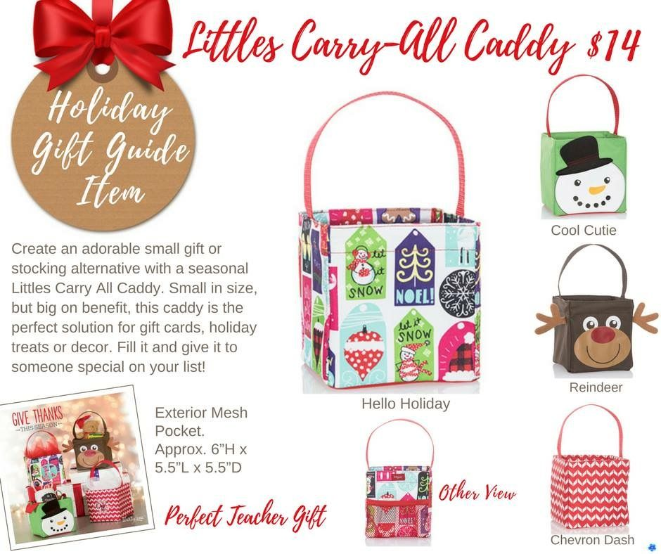 Little carry-all Caddy thirty one small utility tote bag 31 gift Hello Holiday