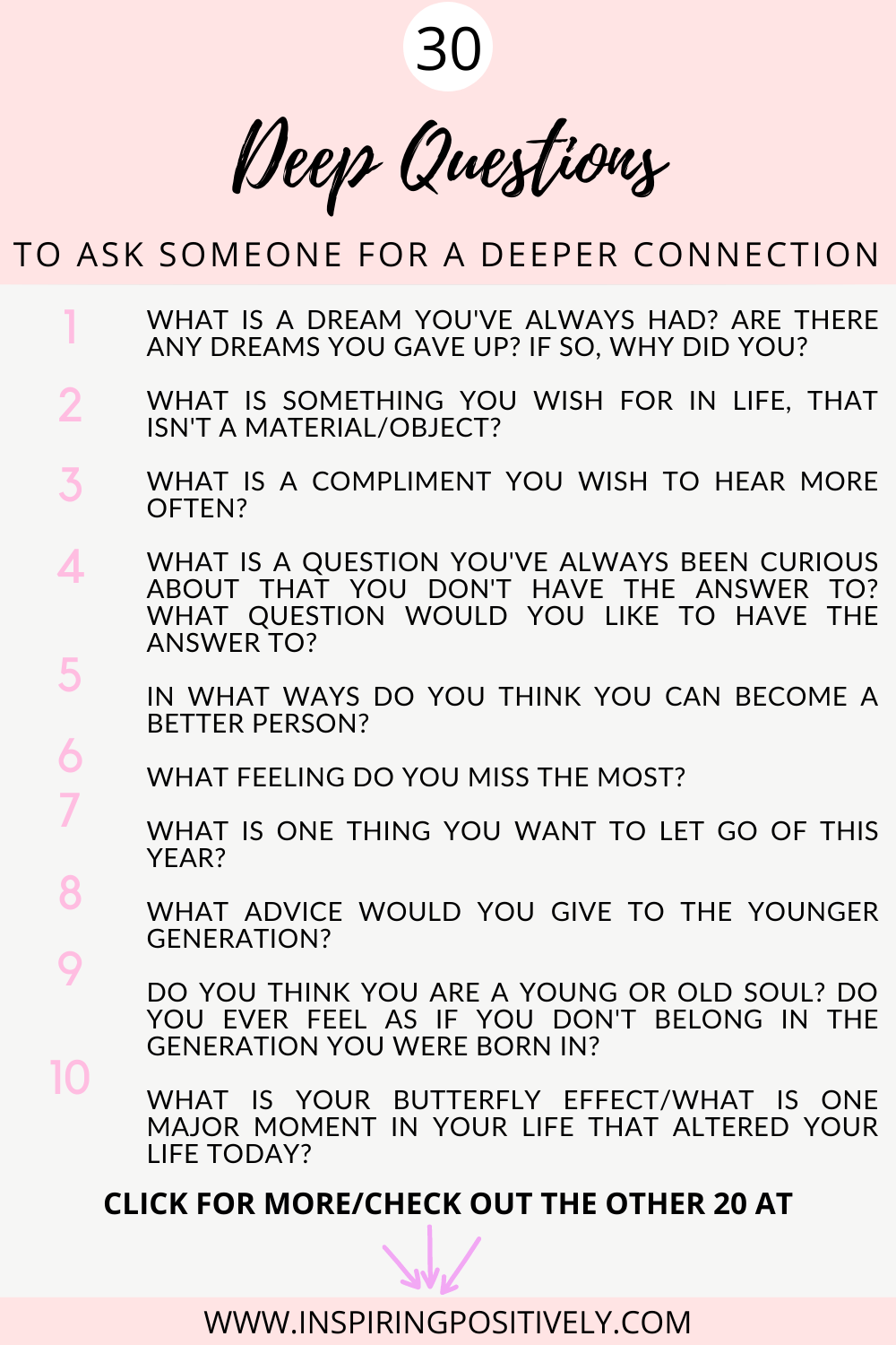 30 Deep Questions to Ask Someone for a Deeper Connection