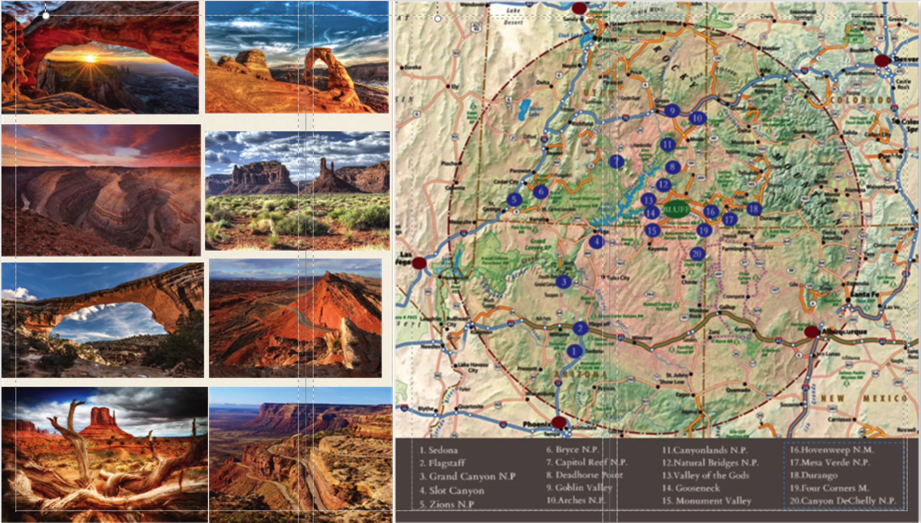 Map of Bluff Utah Desert Rose Inn & Cabins Pinterest