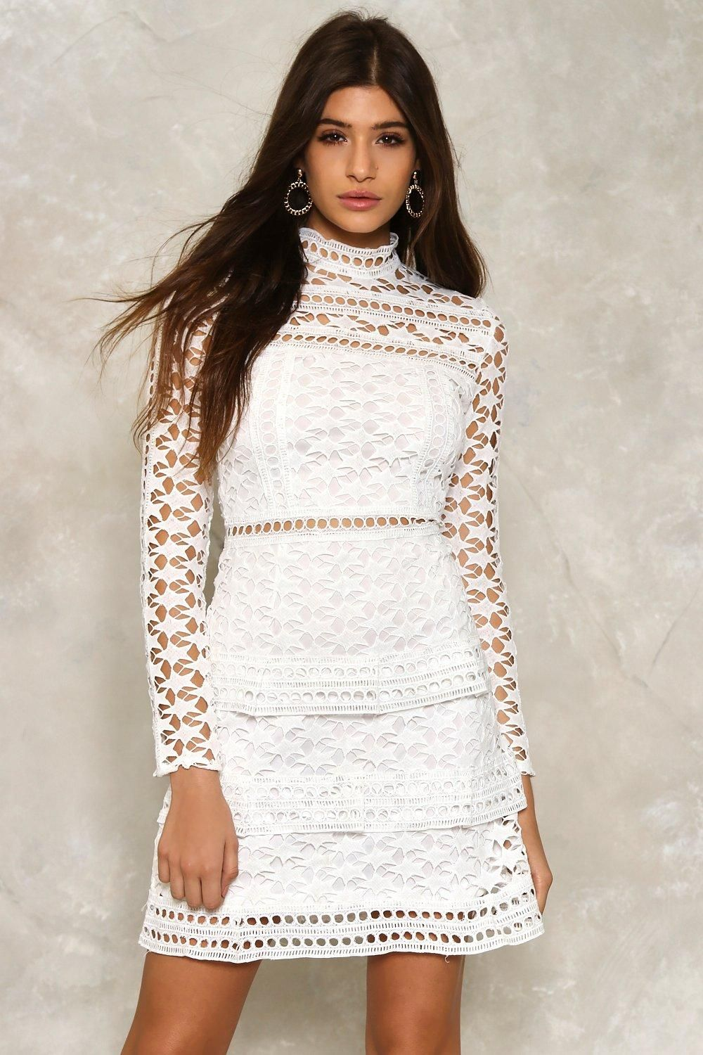 Faye Crochet Lace Dress | Shop Clothes at Nasty Gal!