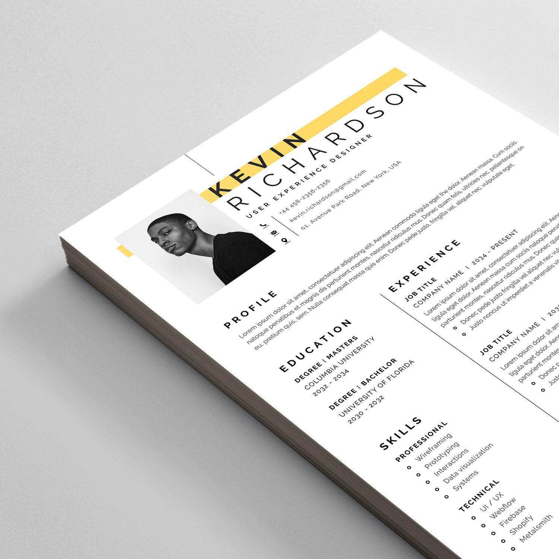 Resume Cv Letterhead Design Resume Cv Downloadable Resume Template