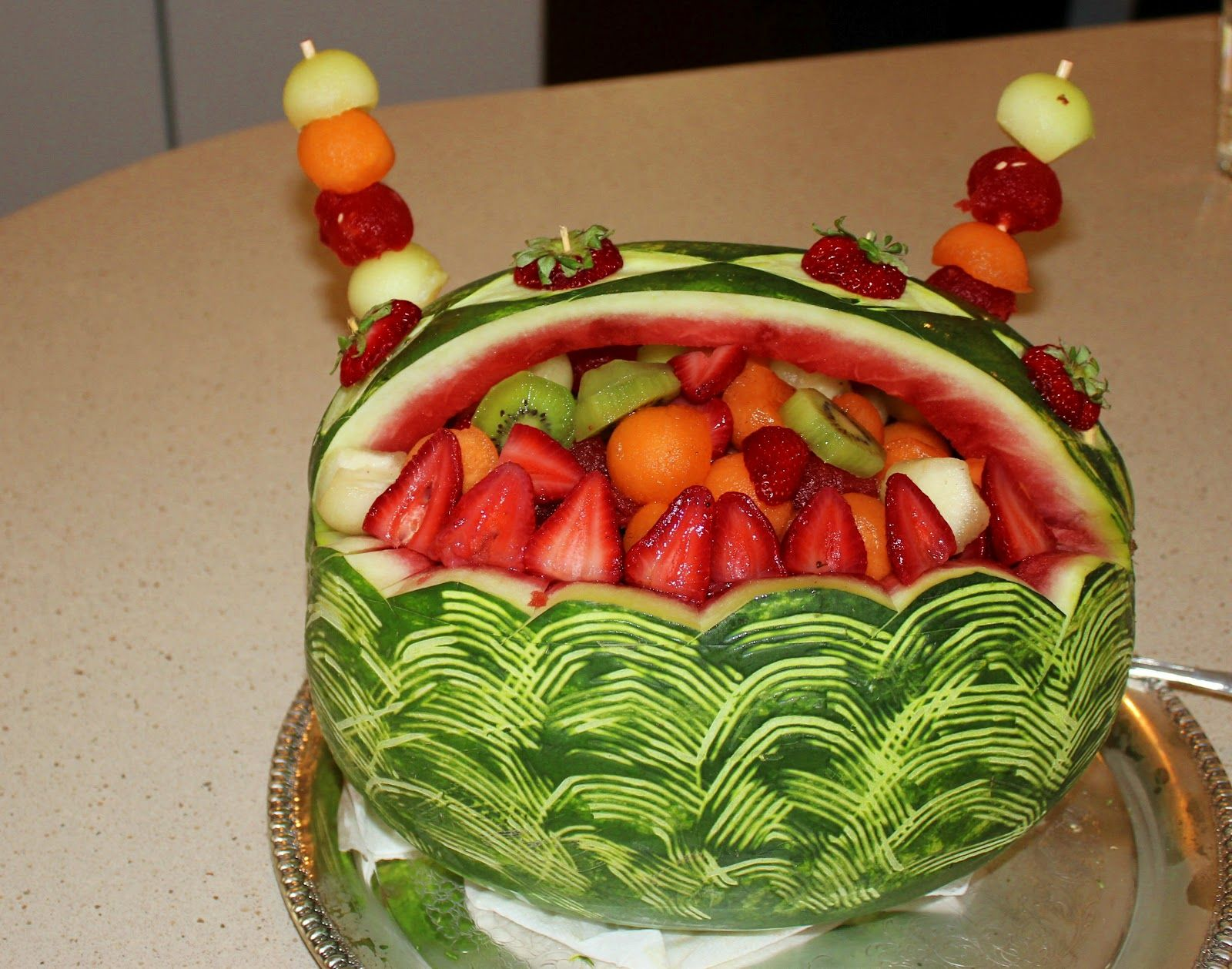 Nc san diego cooking classes fruit salad carved melon