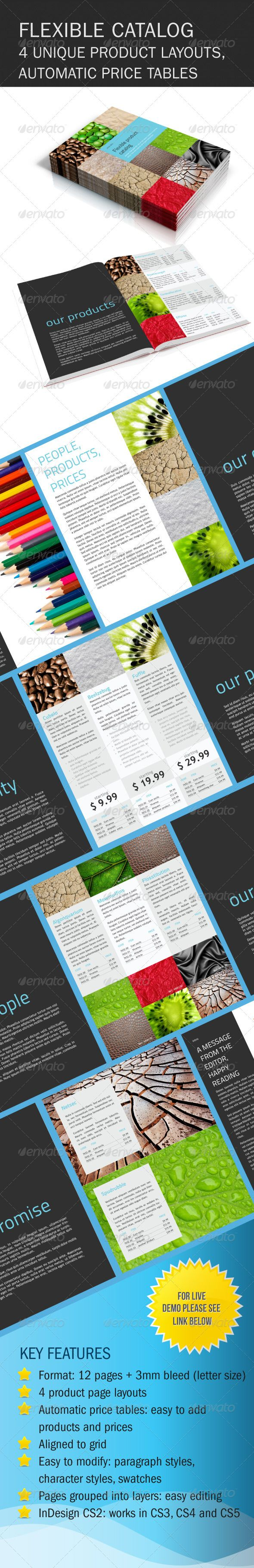 product catalog half fold brochure template – paragraph styles character styles swatches bleed – everything for easy editing and easy printing 12